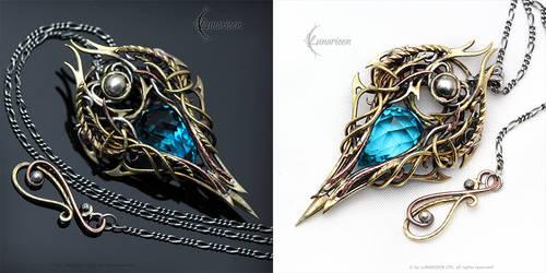 XENERTHIEL - gothic style pendant. by LUNARIEEN