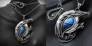 YEENDER DRACO  gothic style necklace, Dragon's Eye