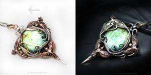 RACHEEVIRH Silver, Bronze, Brass, Labradorite