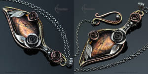 ENERYZIA - Vintage, Victorian style necklace