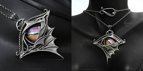 NETHRNAR DRACO - gothic style silver necklace
