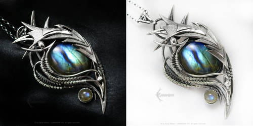 MINTHERIEEL DRACO Silver and Labradorite