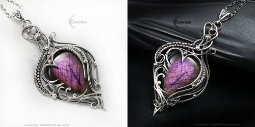 AQTHURIEEL Labradorite and Amethyst