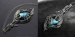 NEHDIEER NELERN - floral, gothic style necklace