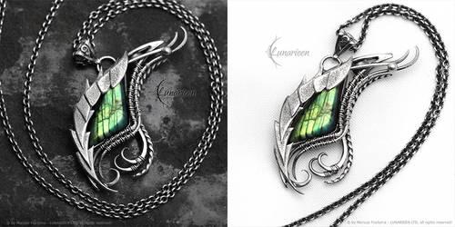 NNYRTHYR DRACO - gothic style silver necklace