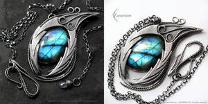 SHARRALRN DRACO - gothic style silver necklace