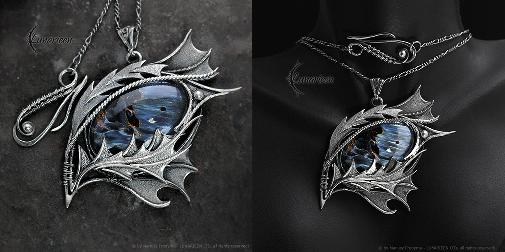 SAHNRATH DRACO - gothic style silver necklace