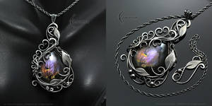 LEARIEEL VEZEER - floral, gothic style necklace