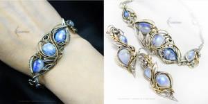 ETHENARELH Silver, Moonstone, Brass.