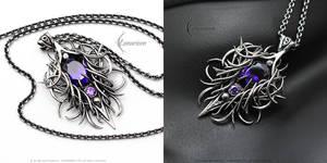XAVANAAR - Gothic style silver necklace
