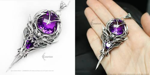 ASHEEVIRH Silver, Amethyst, Purple Zirconia
