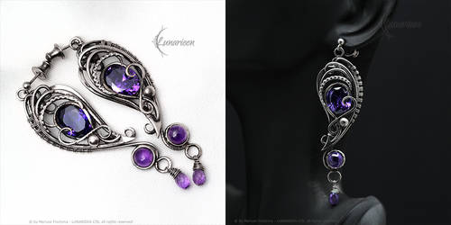 THARIALIERN -Silver, Purple Zirconia and Amethyst