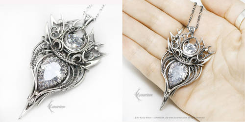 ETHARVINALH Silver and Zirconia