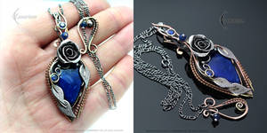 EZZERL FEARLYA - floral, Victorian style necklace
