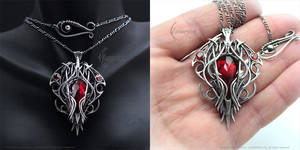 XIBAALHR Silver and Red Quartz
