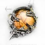 Sunset - Silver, Labradorite, Brass