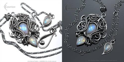 XARHTNAR Silver and Moonstone