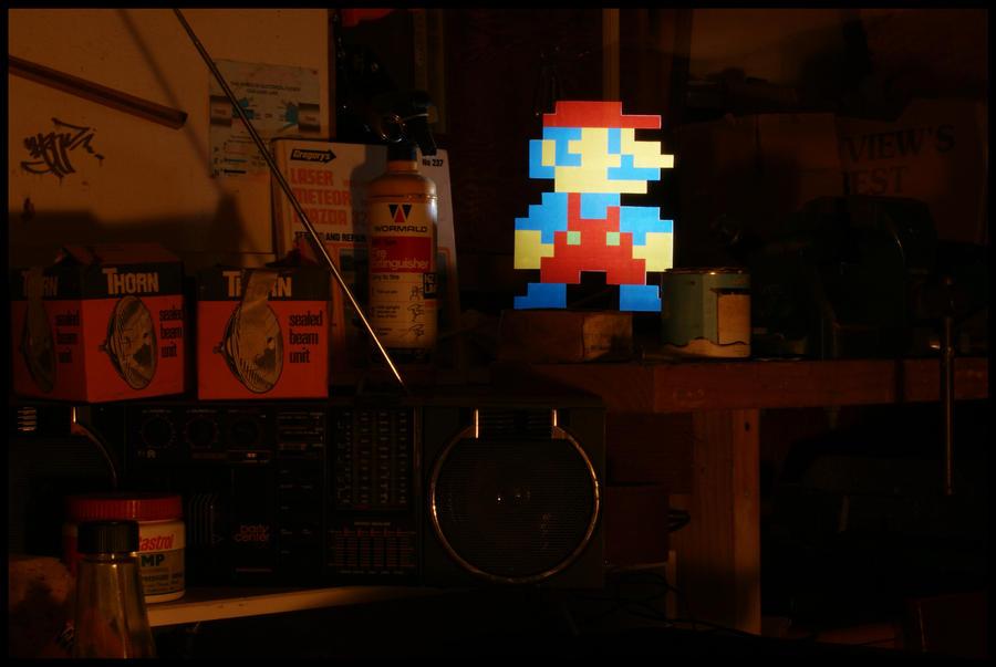 .:Mario light stencil:. by MolefaceNZ
