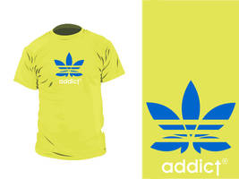 adicted t shirt, adidas