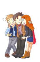 DW - TARDIS Trio by Tsukireiko