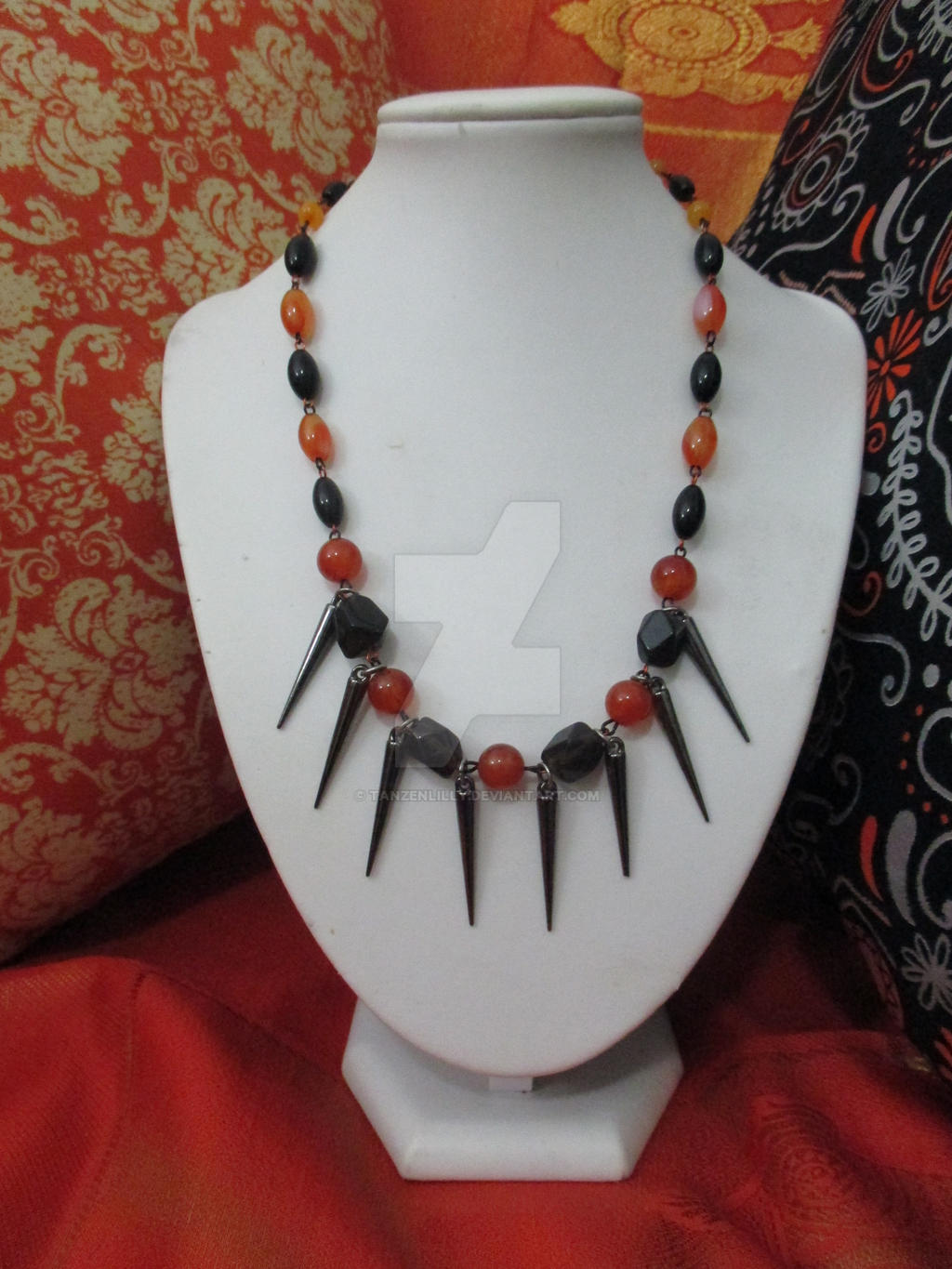 Halloween Queen Beaded Necklace by TanzenLilly