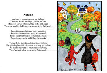 Autumn Poem and Illustration by Tanzen Lilly by TanzenLilly