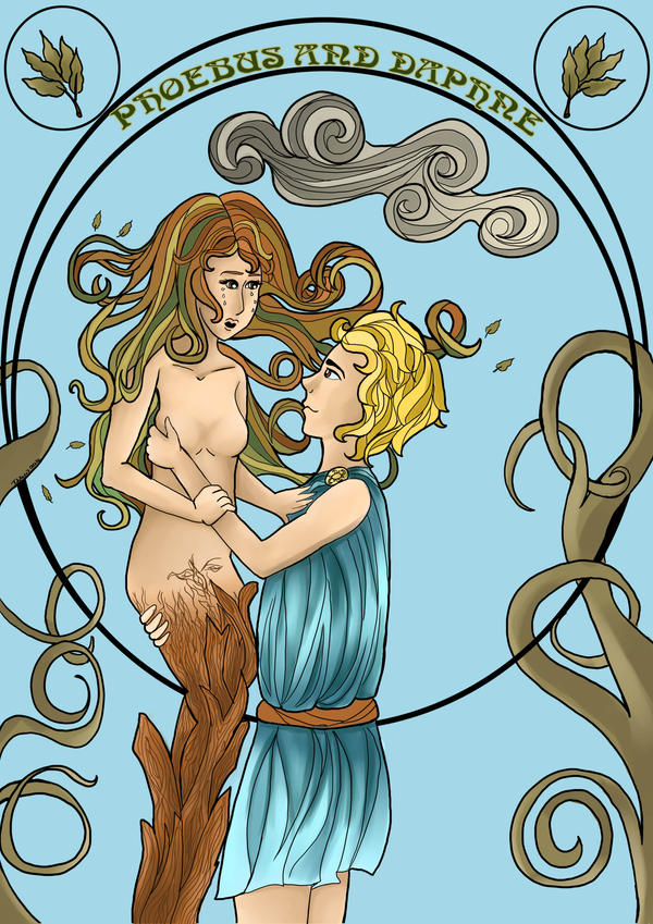 Phoebus and Daphne by Delew