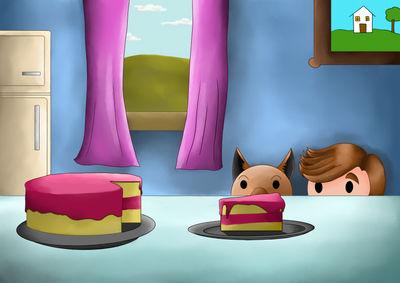 Someone saves the cake!