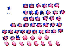 Sonic Kirby Sprites by gamercolin