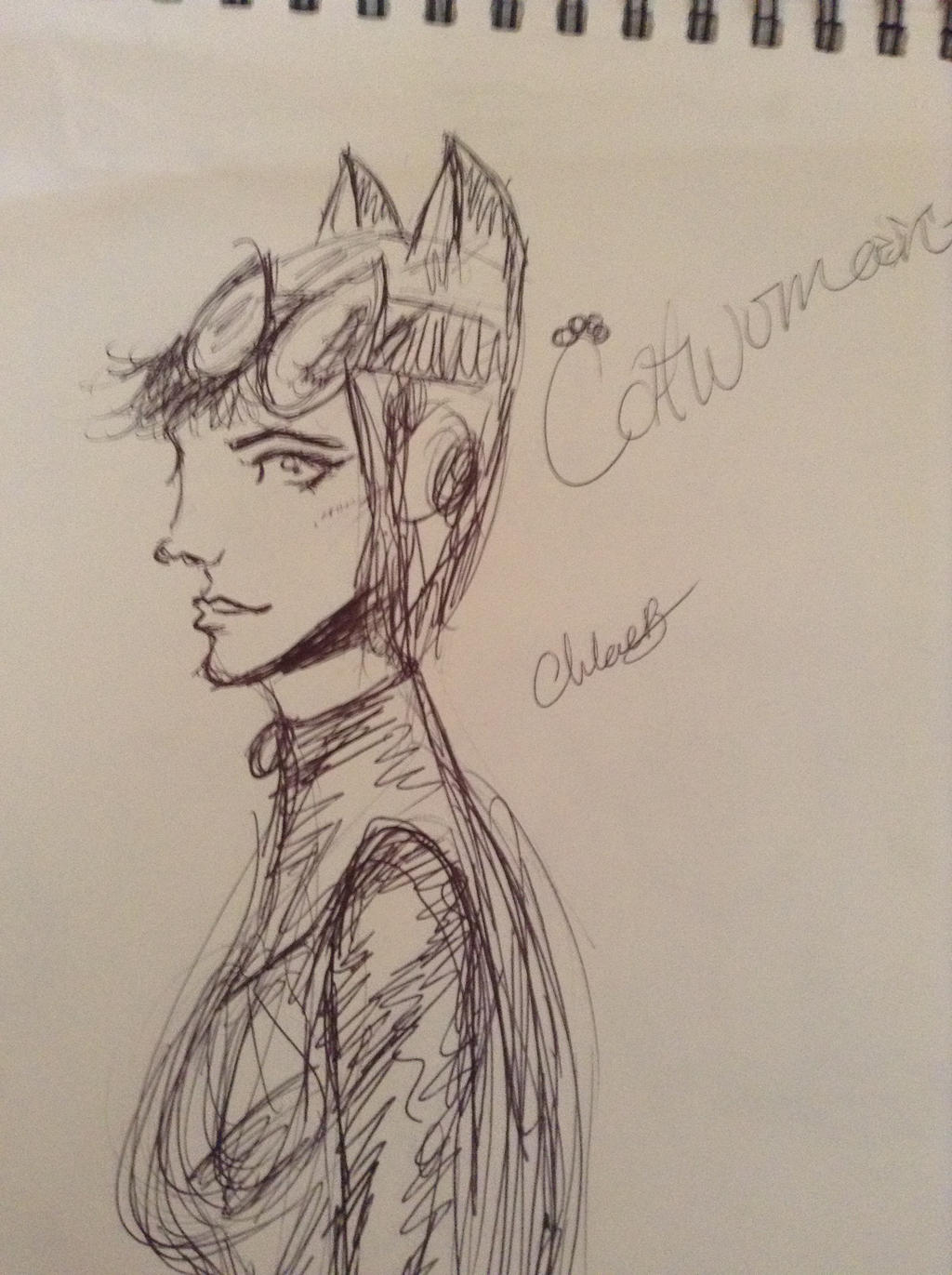 Jim Lee Inspired Catwoman Drawing by ChloeFanciesComics on ...