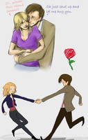 Eleven and Rose by Izzymatic