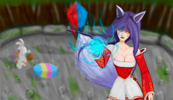 Ahri and Teemo go to battle