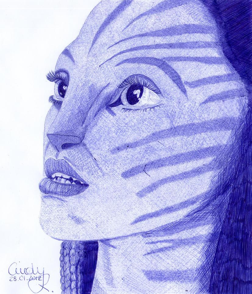 Avatar - Neytiri ballpoint by Cindy-R