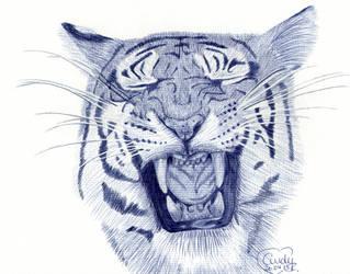 Tiger Ballpoint by Cindy-R