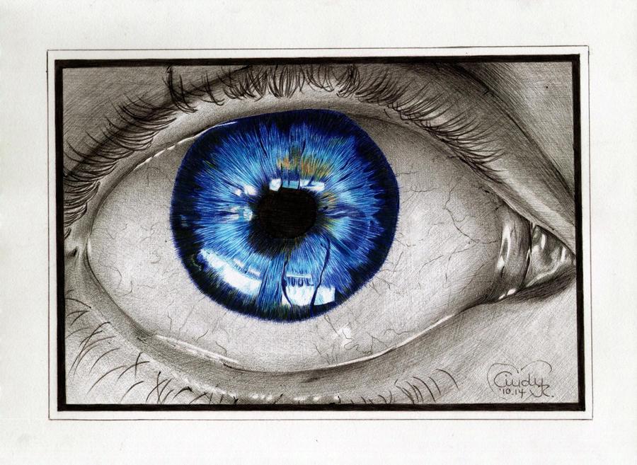 Blue Ballpen Eye by Cindy-R