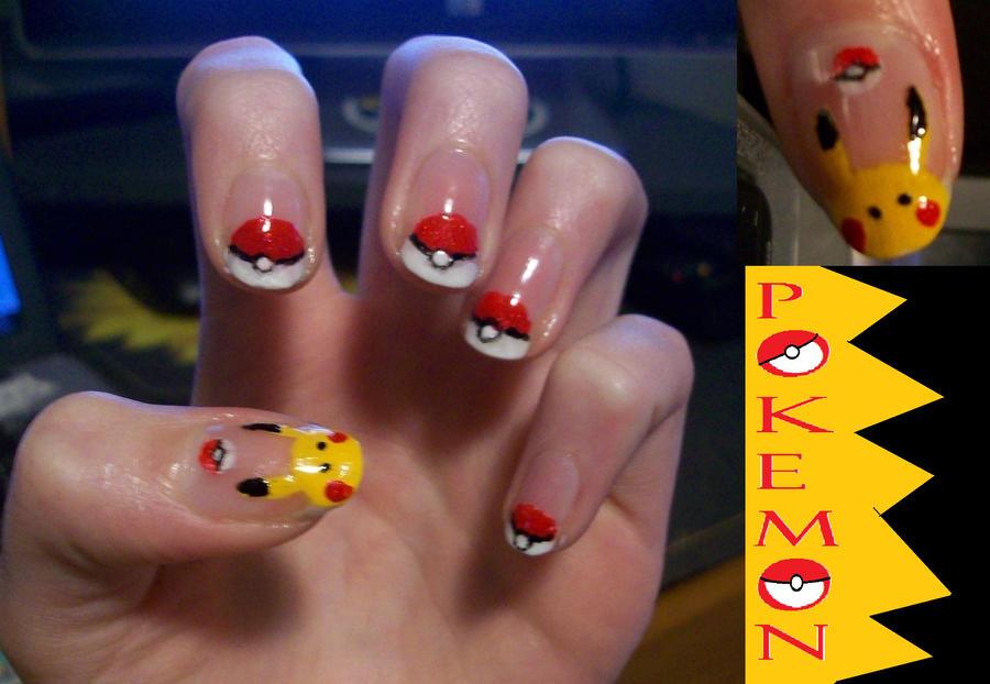 pokemon nail art by nayuki910 ... - Pokemon Nail Art By Nayuki910 On DeviantArt