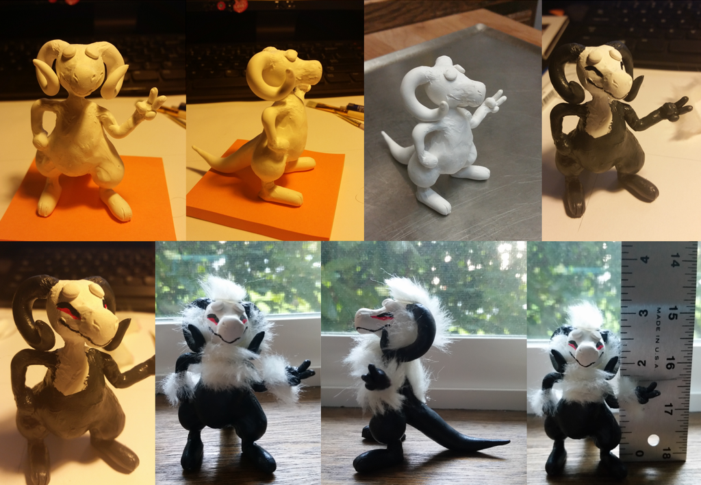 Sculpey Rammy Process by nayuki910