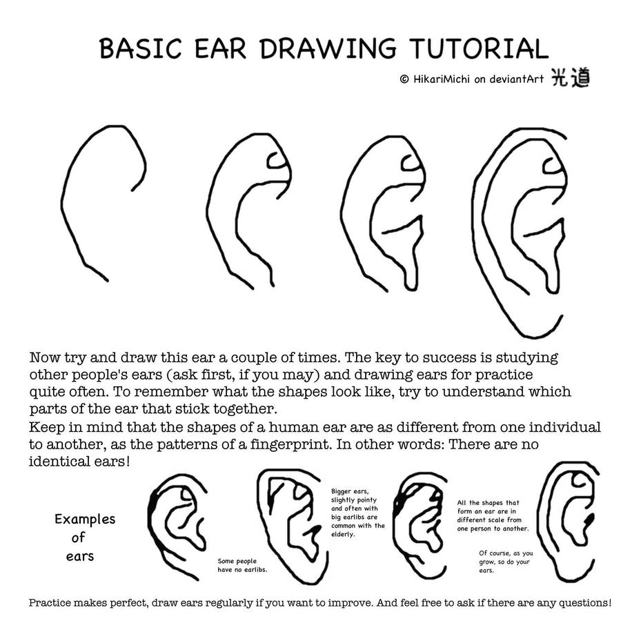 This is a photo of Old Fashioned Ear Drawing Simple