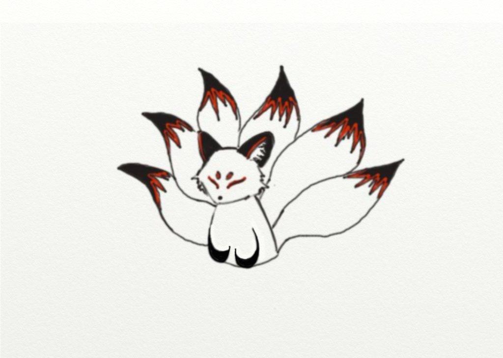 kitsune tattoo design by magik llama on deviantart. Black Bedroom Furniture Sets. Home Design Ideas