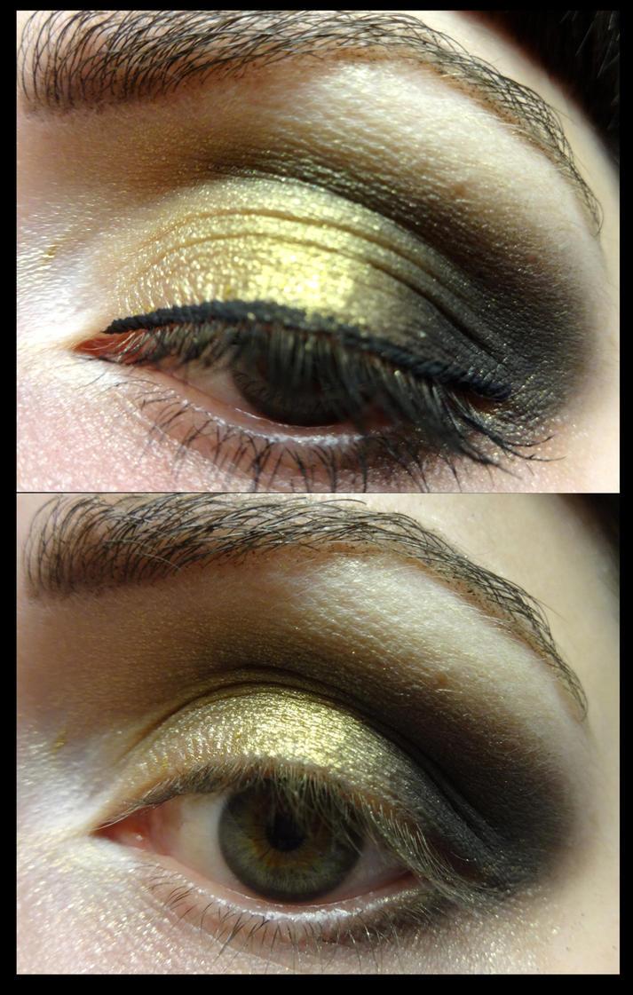 Gold and Black Smoky Eye by vampireleniore
