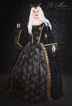 fantasy gothic renaissance gown