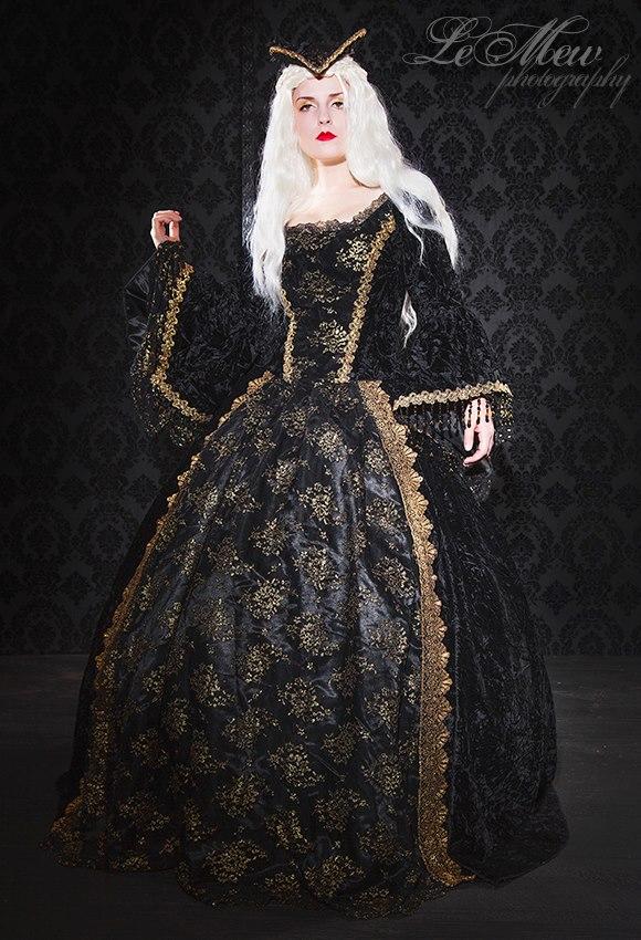 fantasy gothic renaissance gown by vampireleniore