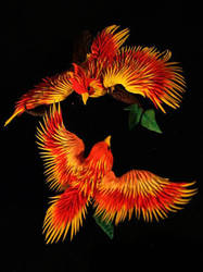 Phoenixes by hontor