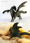 Zigrih Dark Harmony Black dragon sculpture