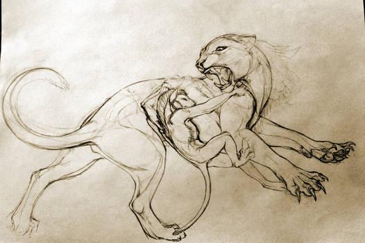 Battle sketch - version
