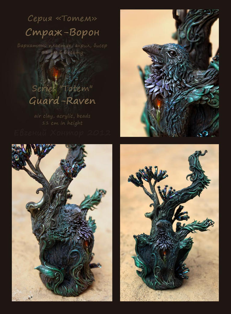 Raven tree totem by hontor