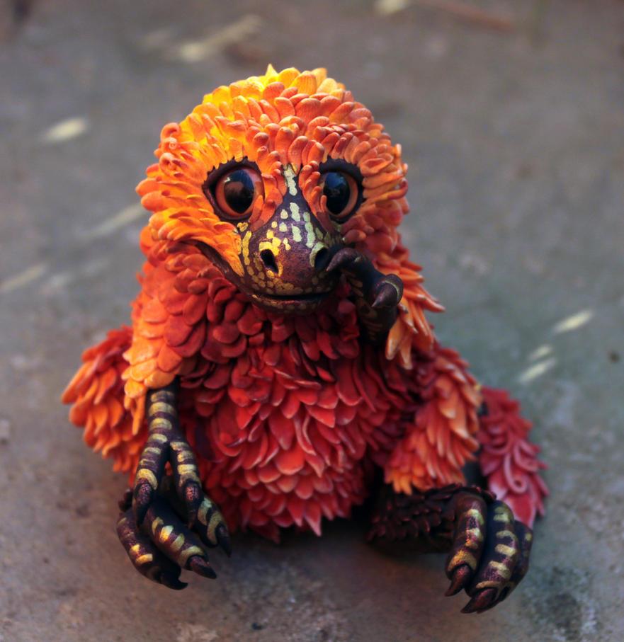Tyrannosaurus chick by hontor