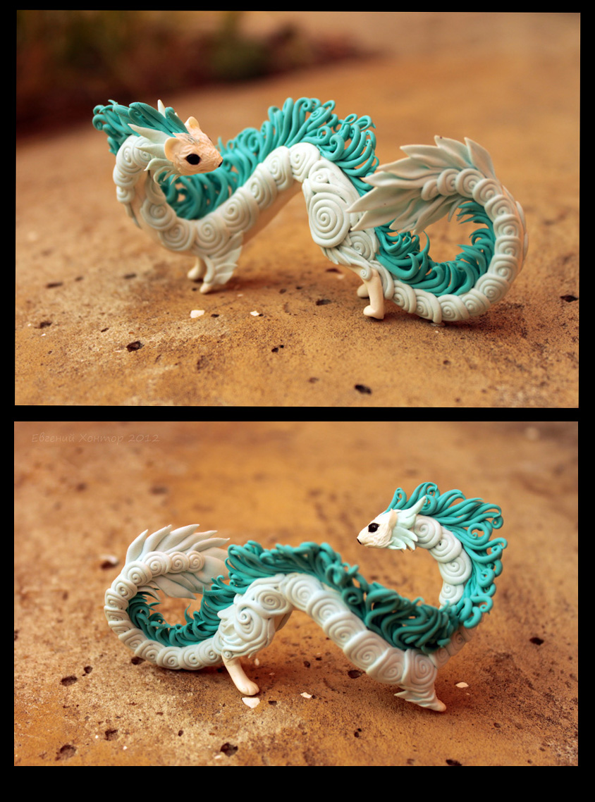 Little ermine-dragon by hontor