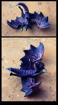 Dragon baby Night Sky by hontor