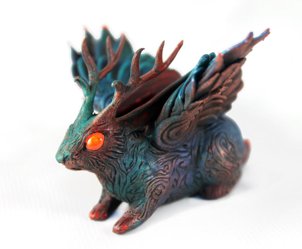 Black Wolpertinger by hontor